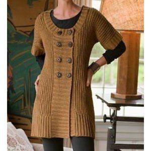 Soft Surroundings city sweater sz S short sleeve